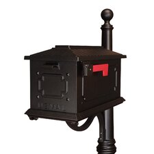 Kingston Post Mounted Mailbox with Rain Overhang