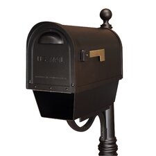 Classic Post Mounted Mailbox with Newspaper Holder