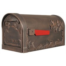 Hummingbird Post Mounted Mailbox with Rain Overhang