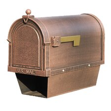 Berkshire Post Mounted Mailbox with Newspaper Holder