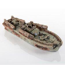 Decorative Sunken Torpedo Model Boat Aquarium Sculpture