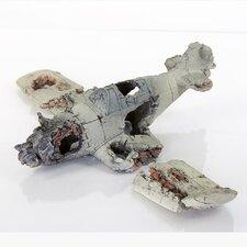 Decorative Crashed Zero Model Plane Aquarium Sculpture