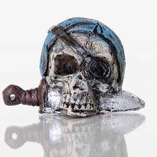 Decorative Pirate Skull Aquarium Sculpture