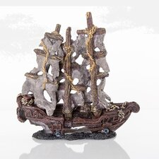 Decorative Mystery Pirate Model Ship Aquarium Sculpture