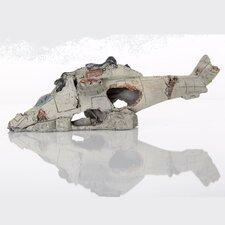 Decorative Apache Model Helicopter Aquarium Sculpture