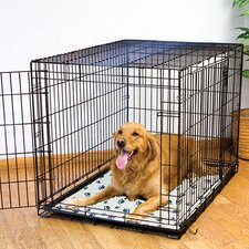 Ultra-Thin Paw Print Kennel Dog Mat
