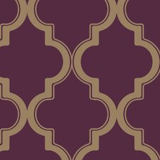 "33' x 20.5"" Marrakesh Temporary Trellis Foiled Wallpaper"