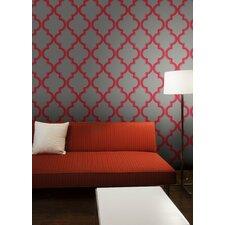 "Tempaper® Marrakesh Self-Adhesive, Removable 33' x 20.5"" Trellis Foiled Wallpaper"