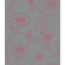 "Peonies Self-Adhesive Removable 33' x 20.5"" Panel Wallpaper"