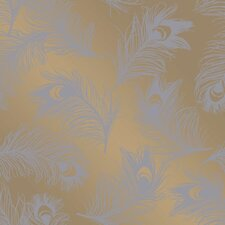 """Feathers Self-Adhesive Removable 33' x 20.5"""" Panel  Wallpaper"""
