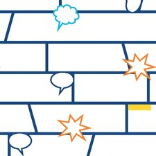 "Tempaper Tots® by P'kolino® Comic Book Self-Adhesive, Removable  16.5' x 20.5"" Brick Gloss Wallpaper"