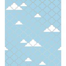 """Tots® 16.5' x 20.5"""" Clouds Wallpaper"""