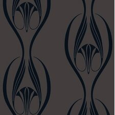 """Edie Temporary 33' x 20.5"""" Abstract Foiled Wallpaper"""