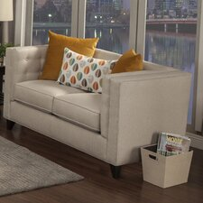 Kailey Contemporary Flared Arm Loveseat
