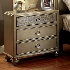 Shelly 3 Drawer Nightstand