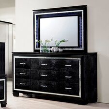 Timsah 9 Drawer Dresser with Mirror