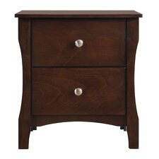 Lattis 2 Drawer Nightstand