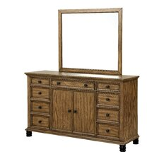 Nory 9 Drawer Dresser with Mirror