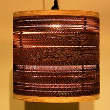 Corrugated 1 Light Drum Pendant