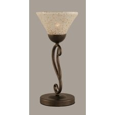 """Olde Iron 15.5"""" H Mini Table Lamp with Bell Shade"""