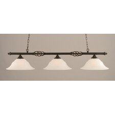 Elegante 3 Light Billiard Light