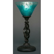 """Eleganté 14.5"""" H Mini Table Lamp with Bell Shade"""