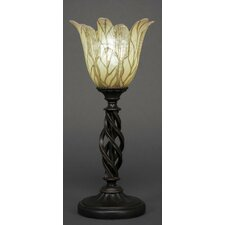 """Eleganté 15.75"""" H Mini Table Lamp with Bell Shade"""