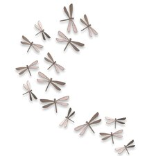 20 Piece Wallflutter Dragonflies Wall Decor Set