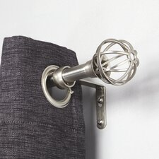 Circuit Single Curtain Rod and Hardware Set