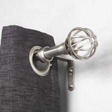 Circuit Single Curtain Rod and Hardware Set