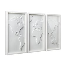 3 Piece Plastic Mapster Wall Décor Set