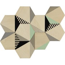 9 Piece Hexy Wall Décor Set