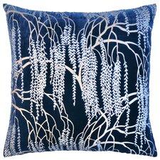 Willow Metallic Velvet Throw Pillow
