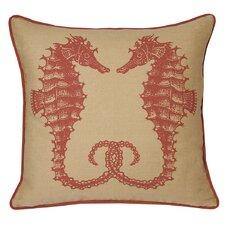 Nauticals Seahorse Throw Pillow