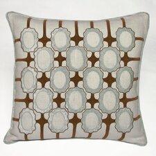 Frames Embellished Linen Throw Pillow