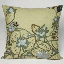 Hydrangea Embellished Throw Pillow