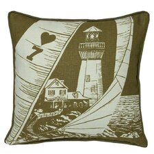 Nauticals Lighthouse Throw Pillow