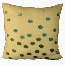 Ovals Embellished Throw Pillow