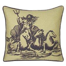 Nauticals Poseidon Throw Pillow