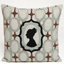 Silhouette Embellished Linen Throw Pillow