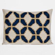 Baroque Embellished Tiles Cotton Lumbar Pillow