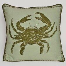 Nauticals Crab Throw Pillow