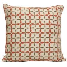 Petal Flower Embellished Linen Throw Pillow