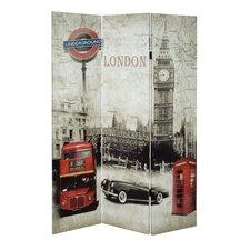 3-tlg Raumteiler London Bus, 180 cm x 120 cm