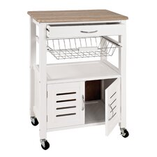 Dow Kitchen Cart with Wood Top