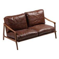 2-Sitzer Einzelsofa Hermes aus Leder
