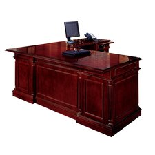Keswick L-Shape Executive Desk with Center Drawer