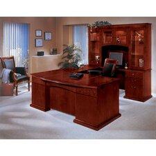 Del Mar U-Shape Executive Desk with Hutch