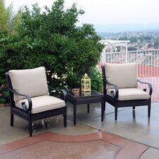Roma Club 3 Piece Deep Seating Group with Cushions