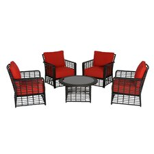 Melrose Chat 5 Piece Deep Seating Group with Cushions